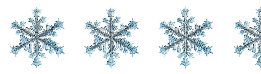 3 and half snowflakes