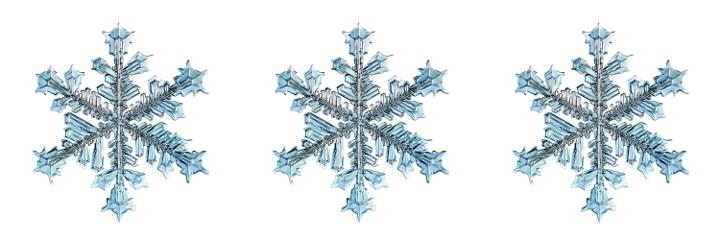 3 snowflakes